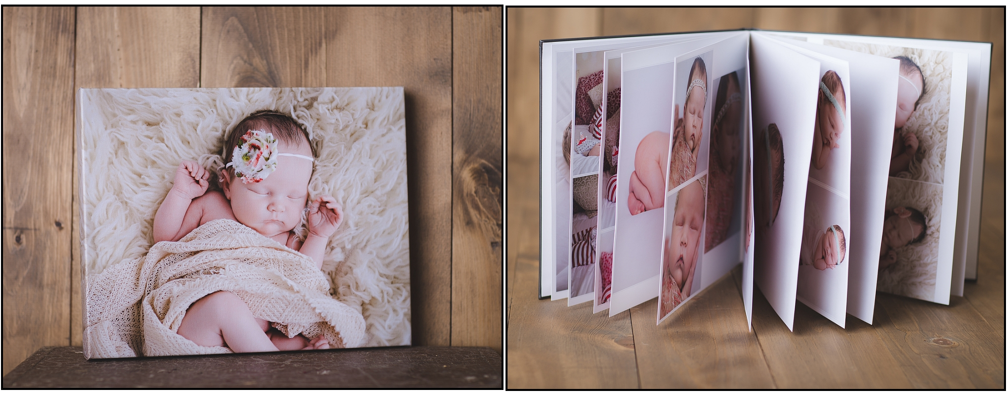 new river family photographer, kristina rose photography, canvas of baby, photo album of baby