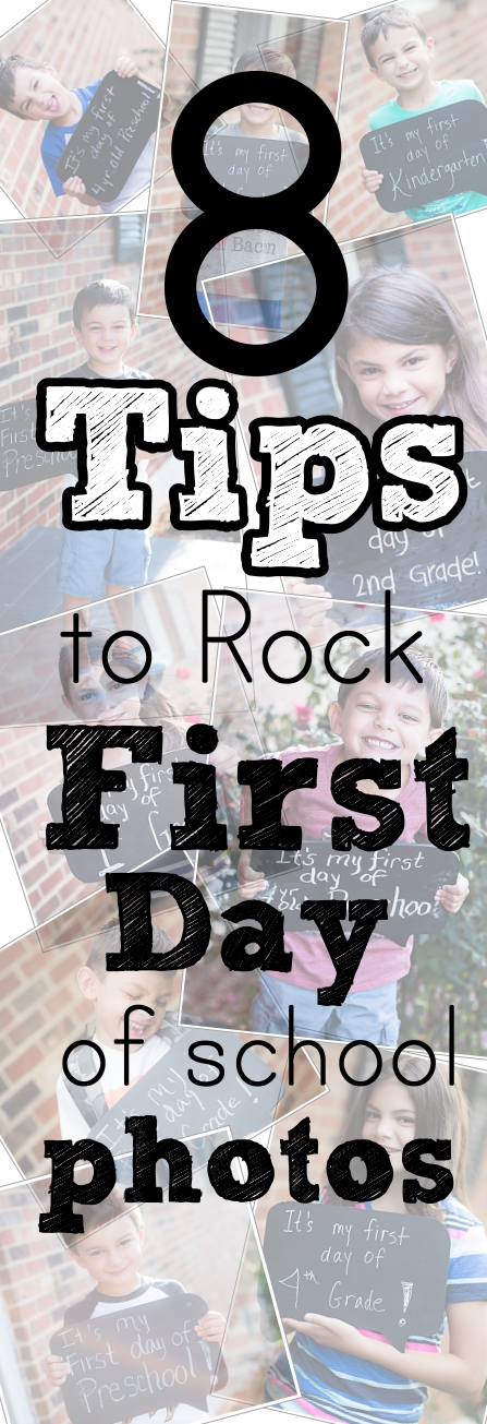 Want to create a family tradition that you can cherish for years to come? Check out these 8 tips for the best first day photos from Kristina Rose Photography