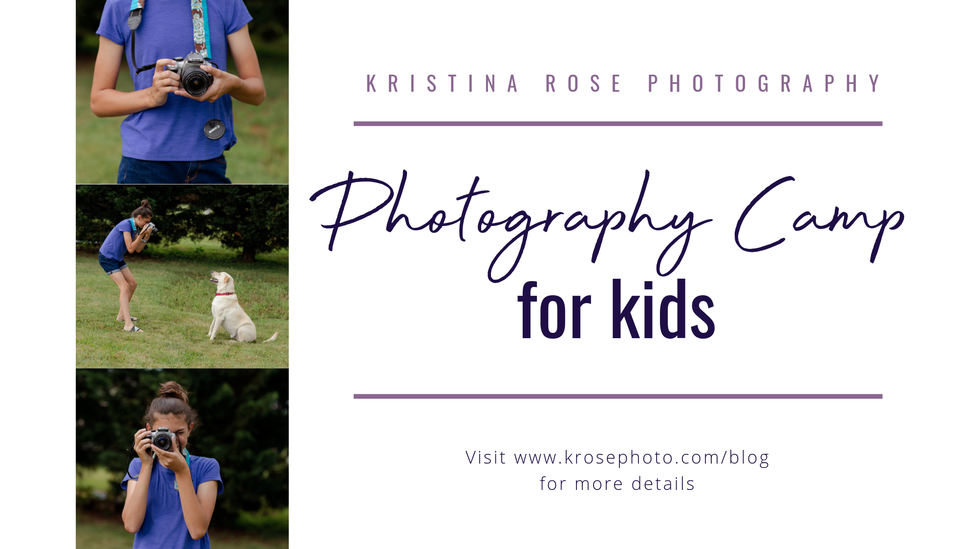 photography camp for kids christiansburg, va