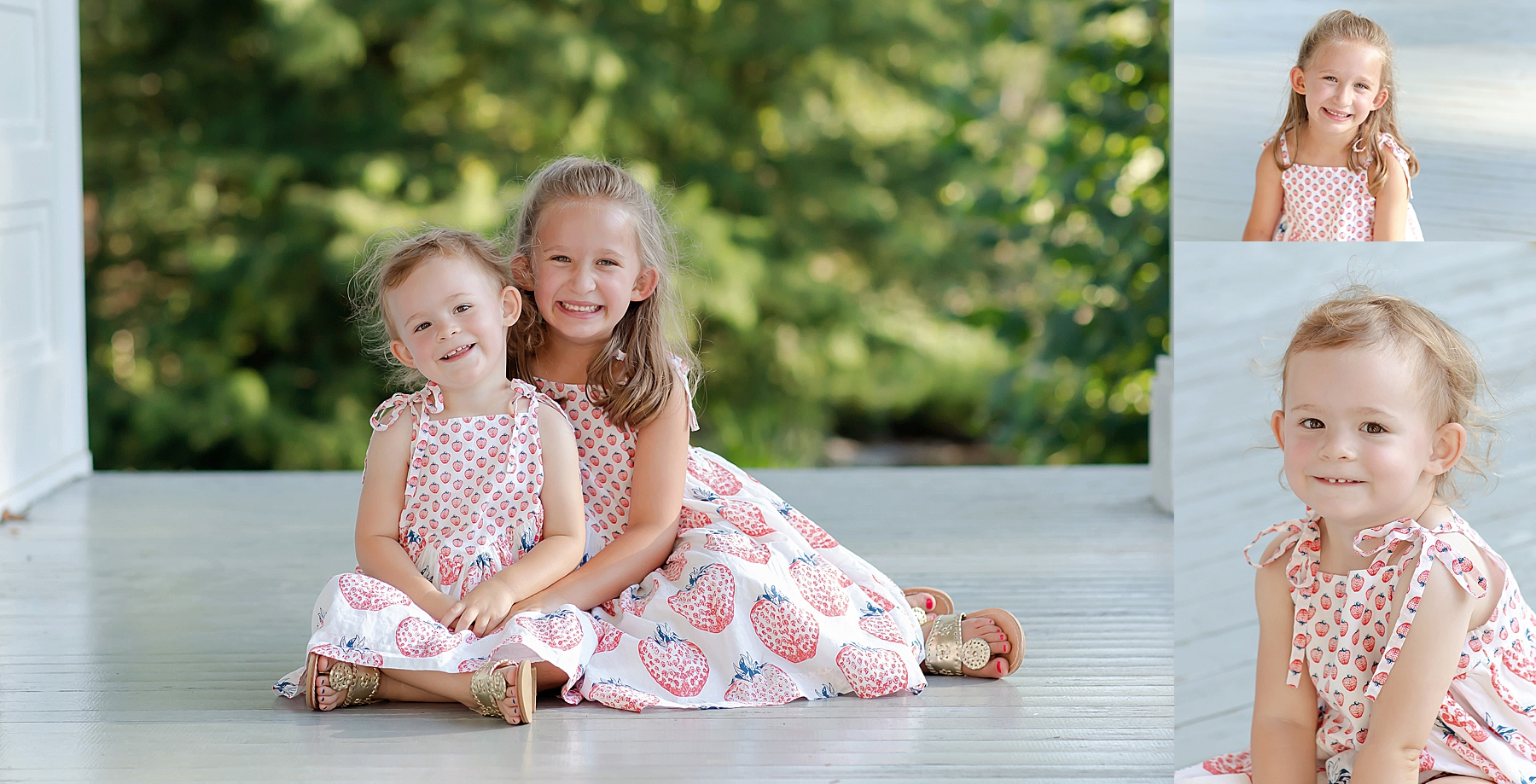 a photo of little girls on a porch how to take good pictures kristina rose photography
