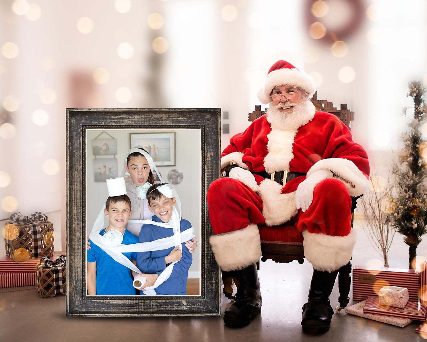 2020 picture with santa